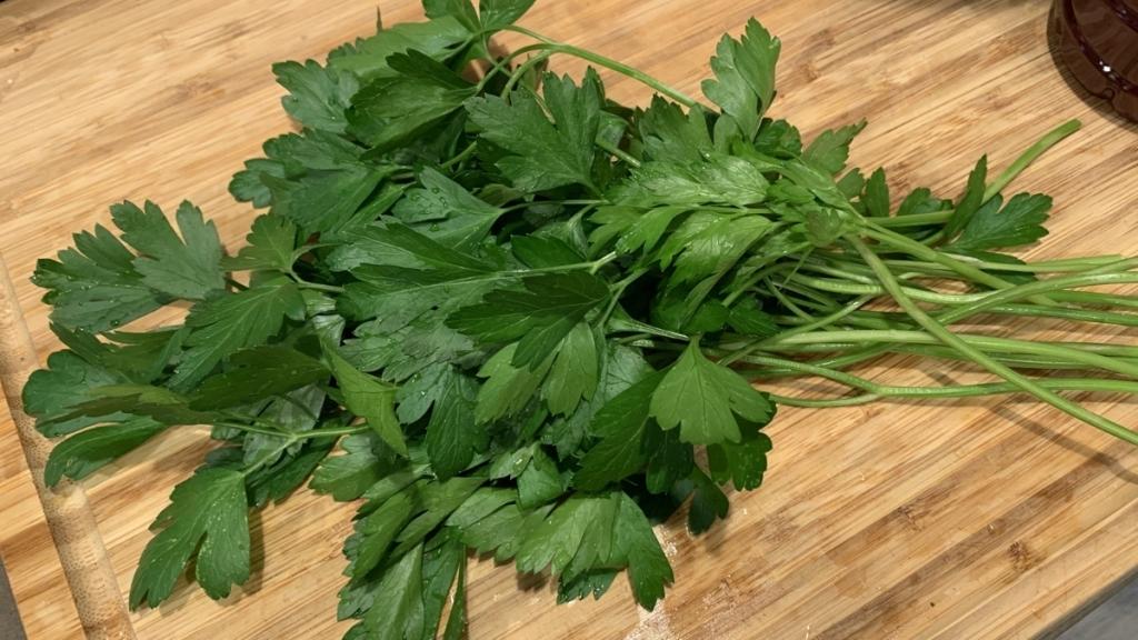Fresh flat-leaf parsley from my garden.